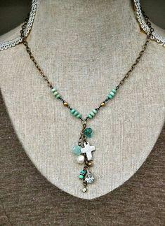 Beads and a cross - oh my! #beadlove #beading #jewelrymaking #cbloggers