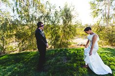 Eberle Winery Wedding in Paso Robles.  Unique Couple first look idea