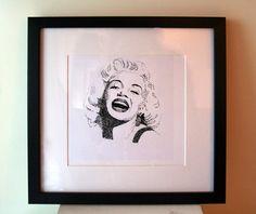 Marilyn Monroe Framed print by DavidsLittlethings on Etsy