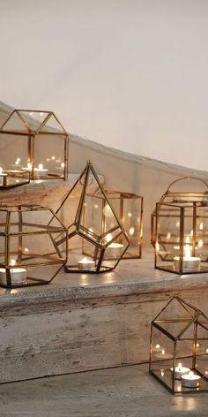 DIY Hurricane Lanterns Out of Dollar Store Frames