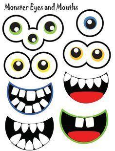 halloween crafts for kids Sevimli canavarlar iin gz ve az Kids Crafts, Halloween Crafts For Kids, Fall Halloween, Kids Diy, Decor Crafts, Monster 1st Birthdays, Monster Birthday Parties, First Birthdays, Little Monster Birthday