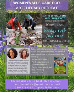 #selfcare #arttherapy #retreat #women #nelsonbc #joinus #forest #ecoart Other Woman, Art Therapy, Long Beach, Self Care, Special Day, Creativity, Instagram, Women, Woman