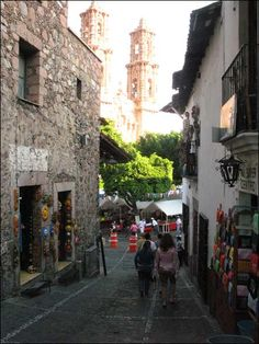 Taxco, Mexico. If only for the silver jewelry market--but it seems like a charming place.