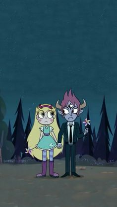 Lockscreen/Homescreen Wallpaper (Phone)  Star vs The Forces of Evil (StarTom: Star Butterfly and Tom Lucitor)  *feel free to use!*
