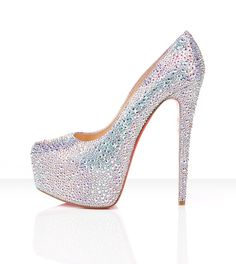 Nothing But Shoes Christian Louboutin Daffodile in Aurora Boreale 6 inch heel 6395 7587  2013 Fashion High Heels 