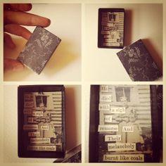 ooak mini matchbox collage art
