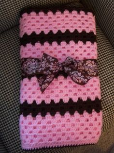 Its a GIRL Crochet Blanket. I will attempt to make this for my NEXT friend who is having a girl.