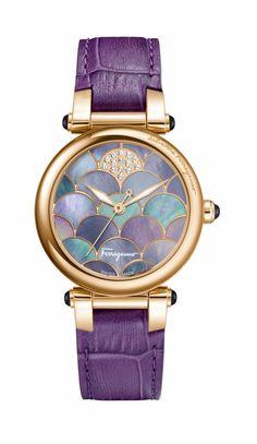 Ferragamo Ladies Stainless Steel and Calfskin Strap Watch ($2,195)