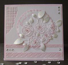 English Rose Bouquet.  Memory box dies.