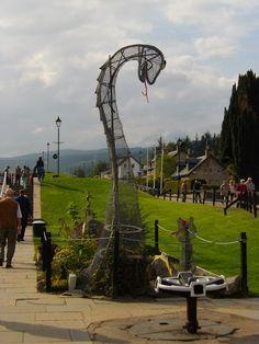 Sculpture of Loch Ness Monster, Fort Augustus, the Highlands, Scotland