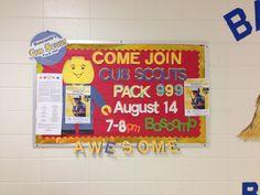 Cub Scout bulletin board