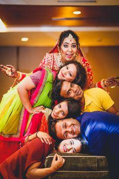 #bridalsquad #wedding #indianbride Bridal Squad, Sabyasachi, Lehenga, Punjabi Bride