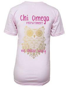 Chi Omega We Choose Wisely Vneck by Adam Block Design