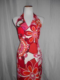 David Meister 100% Silk Bright Floral Dress Sz 8 EUC #DavidMeister #WigglePencil #Cocktail