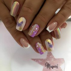Short Nails, Beauty, Short Nail Manicure, Polish Nails, Decorations, Tape Nails, Cute Kitty, Nail Hacks, Beauty Illustration