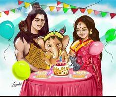 Ganesh Lord, Shri Ganesh, Ganesha Art, Shiva Parvati Images, Lord Krishna Images, Shiva Shakti, Baby Ganesha, Baby Krishna, Ganesha Pictures