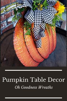 Looking for a piece to build your entry table décor around? Then take a closer look at this beautiful Fall Harvest Metal Pumpkin that has been dressed up with greenery, such as ivy, small sunflowers with orange marigolds. Don't have an entryway table... this piece can be used on your mantel, end table, dining room table even your add to your porch décor.