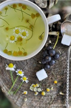 chamomile tea. Excellent to calm the spirit. Perfect just before bed kind of tea