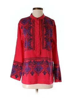 jcrew printed blouse - $14