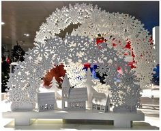 VM choice: John Lewis Christmas displays - Retail Design World Christmas Booth, Christmas Window Display, Christmas Love, Christmas Lights, Christmas Displays, Christmas Crafts, Christmas Ornaments, New Years Decorations, Christmas Decorations
