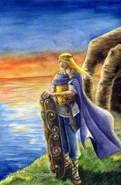"""Lugh by Ayrtha. Lugh is an Irish deity represented in mythological texts as a hero and High King of the distant past. He is a reflex of the pan-Celtic god Lugus, and his Welsh counterpart is Lleu Llaw Gyffes, The Bright One with the Strong Hand""""."""