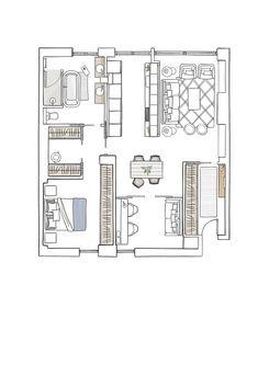 E. Piso Santos-Susel correc . plano vivienda 80 metros Style Loft, Cabana, Wall Signs, Stairways, Couple, Small Spaces, Living Spaces, House Plans, Floor Plans