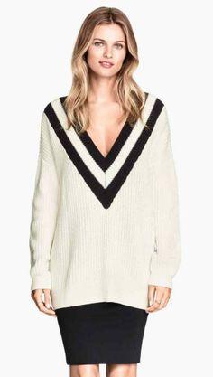 jersey escote de pico H&M