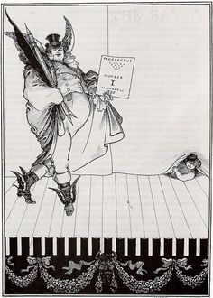 Illustration 2.  Beardsley, as a member of the avant garde, also criticized the Victorian art world with its pressure to conform to the Victorian artistic ideal. Here, he outwardly criticizes the Victorian art world in his satirization of mainstream artists. This is most evident in an illustration which was a prospective cover for The Savoy magazine (illus. 2). In the drawing, Beardsley used the image of John Bull to represent the established artist.
