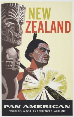 Pan American Airways Poster Print New Zealand Vintage Travel Poster Retro, Poster Vintage, Vintage Travel Posters, Vintage Airline, Posters Australia, Pub Vintage, Magazin Covers, Tourism Poster, Airline Travel
