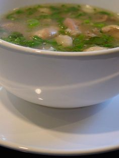 Cambodian Herb-Scented Chicken Soup (S'ngao Chruok Moan)