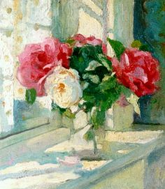 Roses in Sunlight - Paulus Ludovicus Carolus 'Pol'Dom Belgian Oil on panel 37 x 33 cm. Pinterest Arte, Still Life Flowers, Art For Art Sake, Matisse, Art And Architecture, Cat Art, Watercolor Flowers, Painting & Drawing, Flower Art