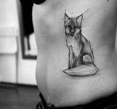 Fuchs Tattoo im Sketch Style von Kamil Mokot - Animal Tattoo Designs - Ideen Diy Tattoo, Tatto Ink, Tatoo Art, Tattoo Ideas, Ink Tattoos, Tattos, Pisces Tattoo Designs, Fox Tattoo Design, Geometric Tattoo Design