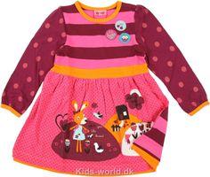 Me Too Kjole - Lilla/Orange/Pink m. Dyr - Børnetøj med fri fragt.
