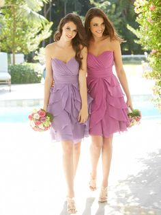 I adore that light purple one  Allure Bridesmaids Style: 1227
