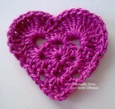 Tecendo Artes em Crochet: Corações Fofos com Gráfico!