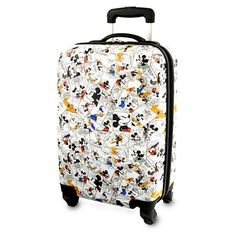 Carry the funny pages wherever you go with Mickey's medium rolling suitcase clad in classic 1930s comic strip art. Functional features like hard-shell case, telescopic handle and in-line wheels will make all your travels lighthearted!