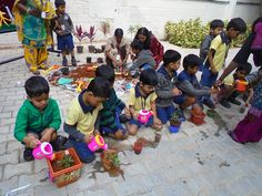 "To create awareness in children about how the trees grow , the role that trees play in preserving the Mother Nature and its contribution towards mankind . To recap the theme of nature and environment & as a culmination to this theme we had organized ""Pot a plant"" for K1 & K2 children in the school on Wednesday 28th January 2015. Children were excited to fill soin in their pots & they planted the saplings , they also watered the saplings. This event was very informative for children."