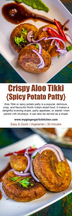 Aloo Tikki or spicy potato patty is a popular, delicious, crisp, and flavourful North Indian street food. It makes a delightful evening snack, party appetizer, or starter when paired with chutneys. It can also be served as a chaat. I am sharing Moong Dal Stuffed Aloo #Tikki which is super crispy, crusty, and spicy. This Aloo Tikki hails straight from North Indian Streets into the cosiness of your homes. #desi #indianfood #recipevideo #streetfood #snack #cooking #vegetarian #vegan #delicious