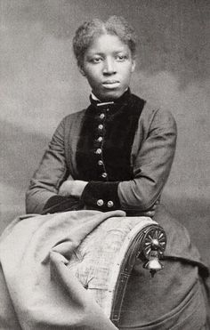 Early African American woman - amazing portrait. no info found.