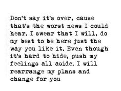 I would rearrange my plans and change for you. // If It's the Beaches - The Avett Brothers