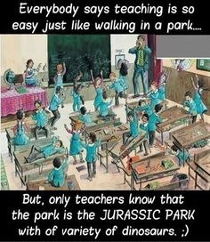 LOL...feel like I'm herding those crazy lil dinos from JP that were dashing here and there. Teaching And Dinosuars