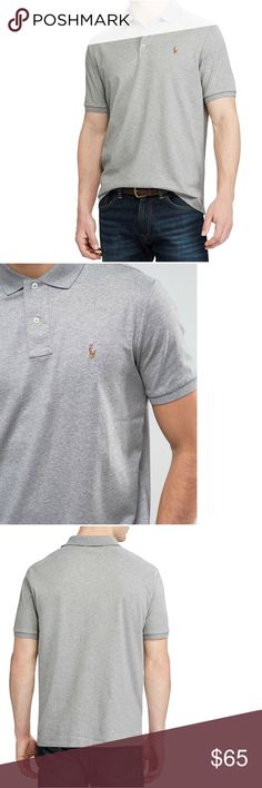 POLO RALPH LAUREN Soft Touch Polo Shirt Big Tall Polo Ralph Lauren specially treated this cotton style for a lustrous, refined look and an ultra-soft feel. Its collar and arm bands were constructed to retain their fit, wash after wash. Designed for a classic fit. Polo collar, embroidered pony at left chest. Short sleeves, vented hem, pullover style. 100% soft touch cotton. Machine washable. New with tag, retails $98.50. Size is 3XB (big & tall sizing). ⭐️ Reduced from $65. Polo by Ralph…