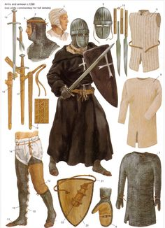Arms, Armor and underclothes of a knight of St. John circa 1230