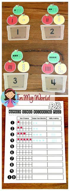 FREE Back to School Math Centers for Kindergarten. Number sense.