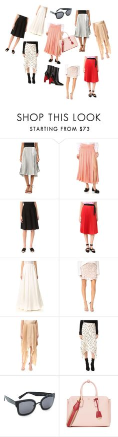 """""""Pleated Skirts..**"""" by yagna ❤ liked on Polyvore featuring StyleKeepers, Rochas, Salvatore Ferragamo, Tome, Reem Acra, Moon River, Acler, Helmut Lang, Kendall + Kylie and MCM"""
