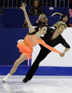 meryl davis and charlie white of usa, 2011 world champions, 2010 olympic silver medalists, perform their short dance at the 2012 world figure skating championships in nice, france.
