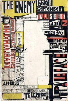 Wyndham Lewis // The Enemy №2 (1927)