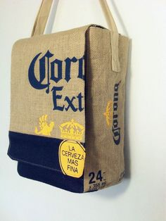 Corona Beer Jute Shoulder Bag Promo Collectible Beach Cerveza 2 Available Coffee Sacks, Luggage Backpack, Jute Bags, Corona Beer, Beer Lovers, Womens Purses, Purses And Handbags, Burlap, Reusable Tote Bags