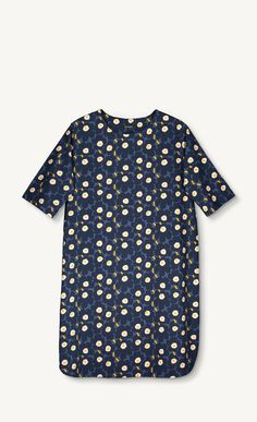 Bella Unikko dress - blue, dark blue, orange - All items - SALE - Marimekko.com
