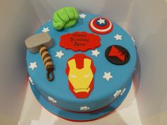 Avengers cake by Scrumptious Cakes Minehead